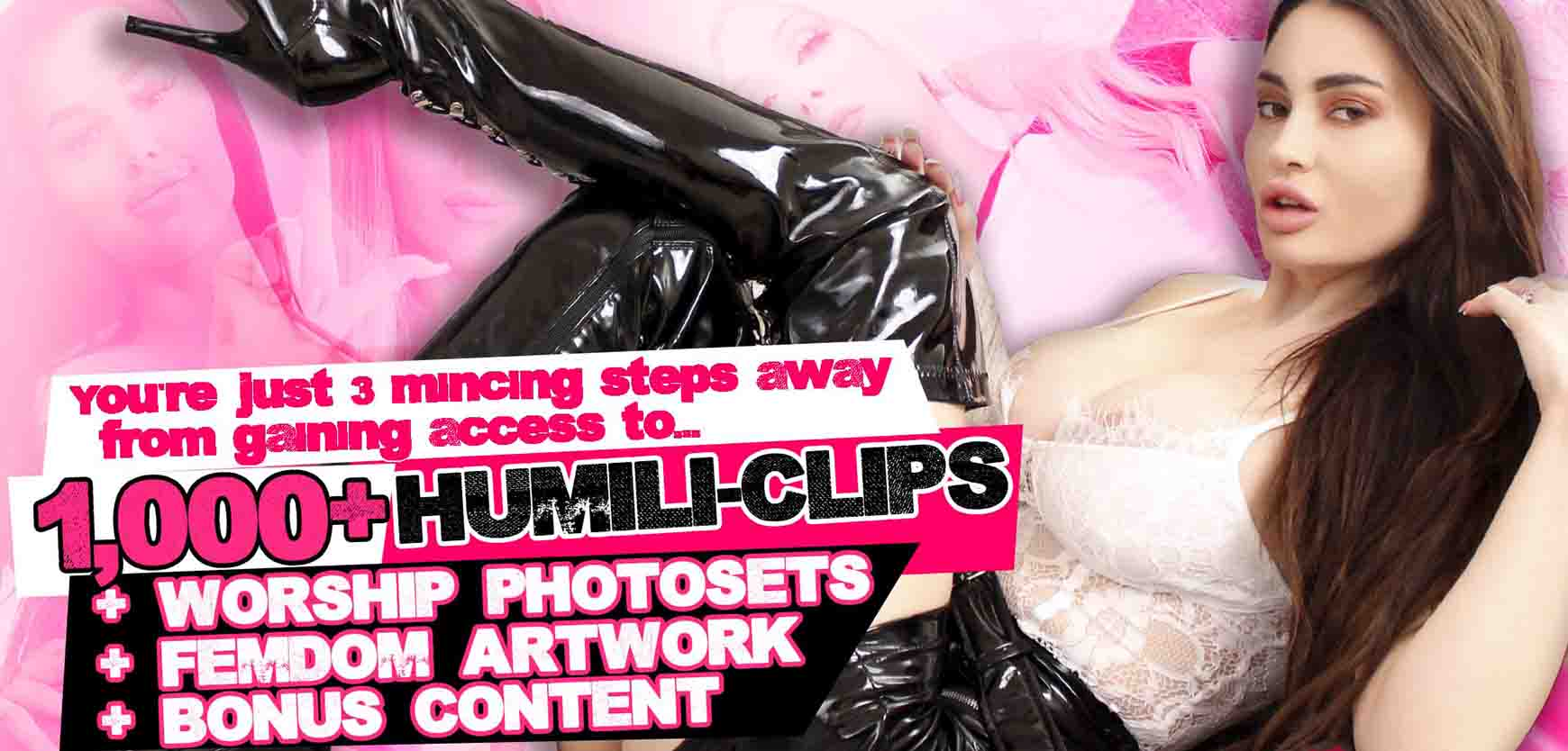 Sign-up for 1000+ humiliation video clips